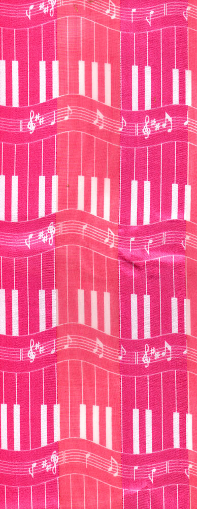 "14"" x 60"" L Polyester music scarve"