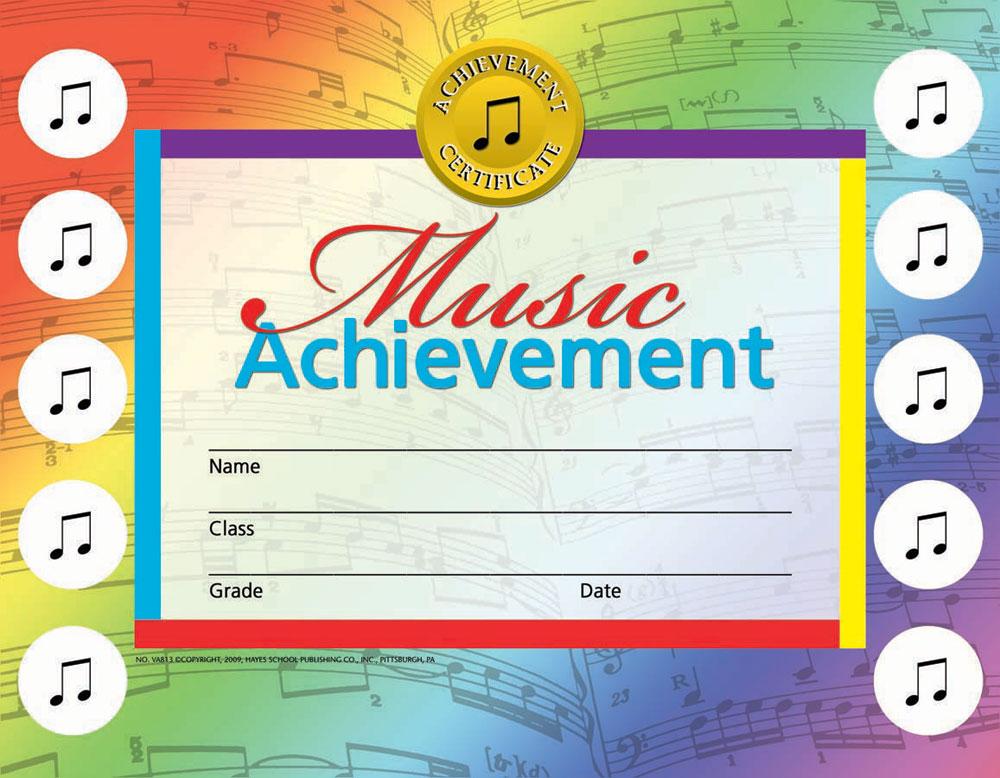 Buy Music Achievement Certificate Set | Awards - Trophies | Music ...