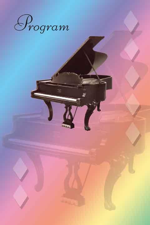 Buy Grand Piano Recital Program Blanks | Awards - Trophies ...