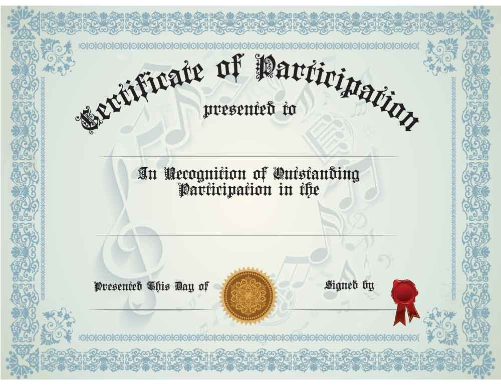 buy generic music participation certificate awards trophies