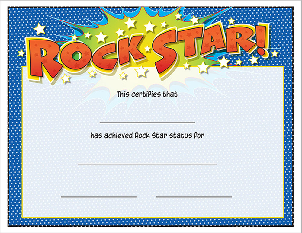 Buy Rock Star Certificate Awards Trophies Music Certificates