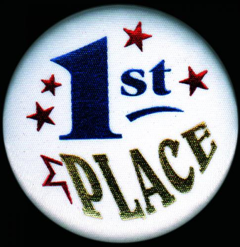 "1 ST Place Button 2.25"" dia."
