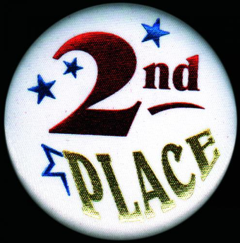 """2nd Place Button 2.25"""" dia."""