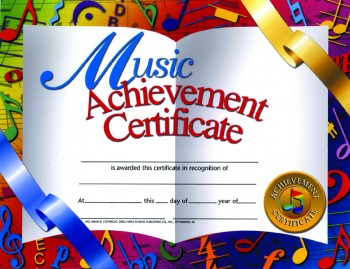 Buy Music Achievement Certificates | Awards - Trophies ...