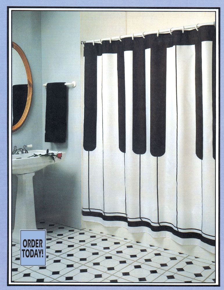 buy keyboard shower curtain music gift music novelty - Musical Shower Curtains