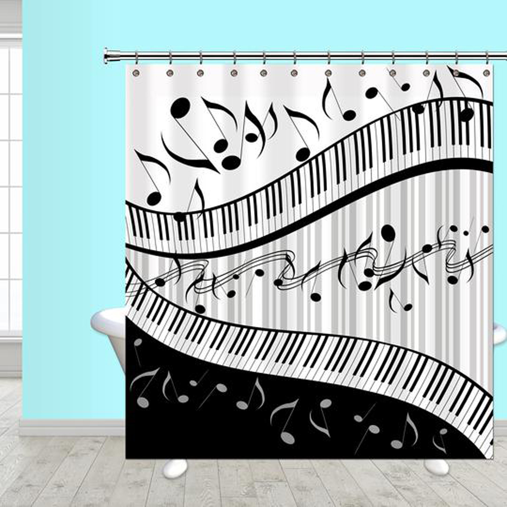 Buy Jazzy Music Shower Curtain