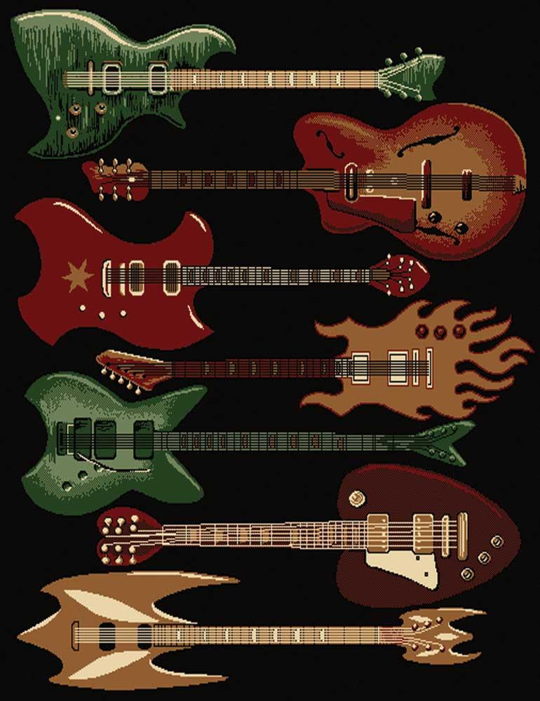 Buy Rock N Roll Guitar Rug Music Gift Music Furniture