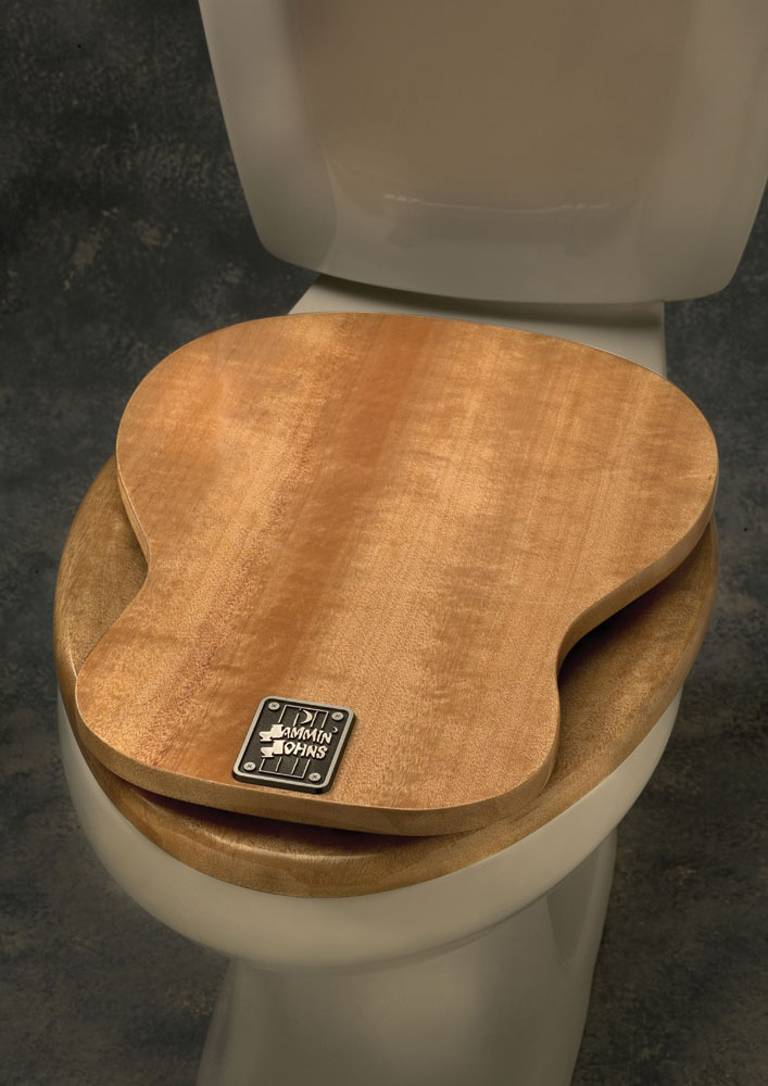 Sensational Buy Acoustic Guitar Toilet Seat Music Gift Music Novelty Machost Co Dining Chair Design Ideas Machostcouk