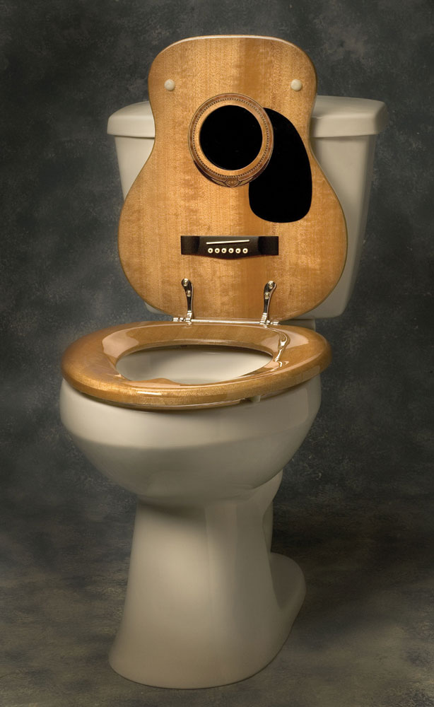 Buy Acoustic Guitar Toilet Seat Music Gift Music