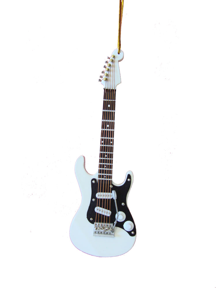 Buy White Electric Guitar Christmas Ornament | Music Gift ...
