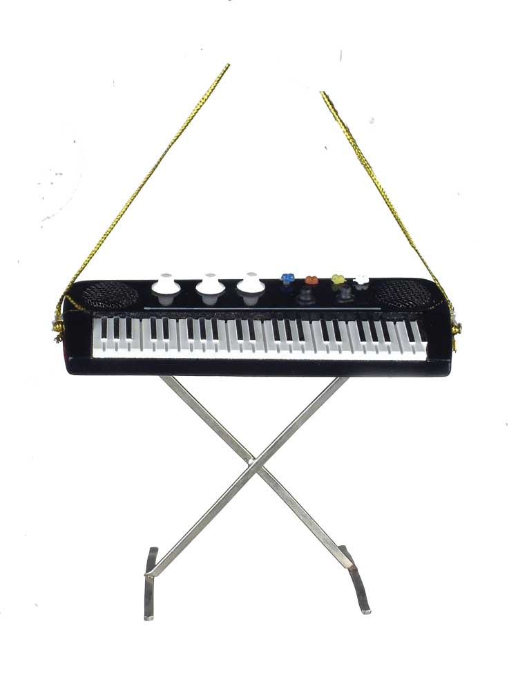 Buy electric keyboard christmas ornament music gift