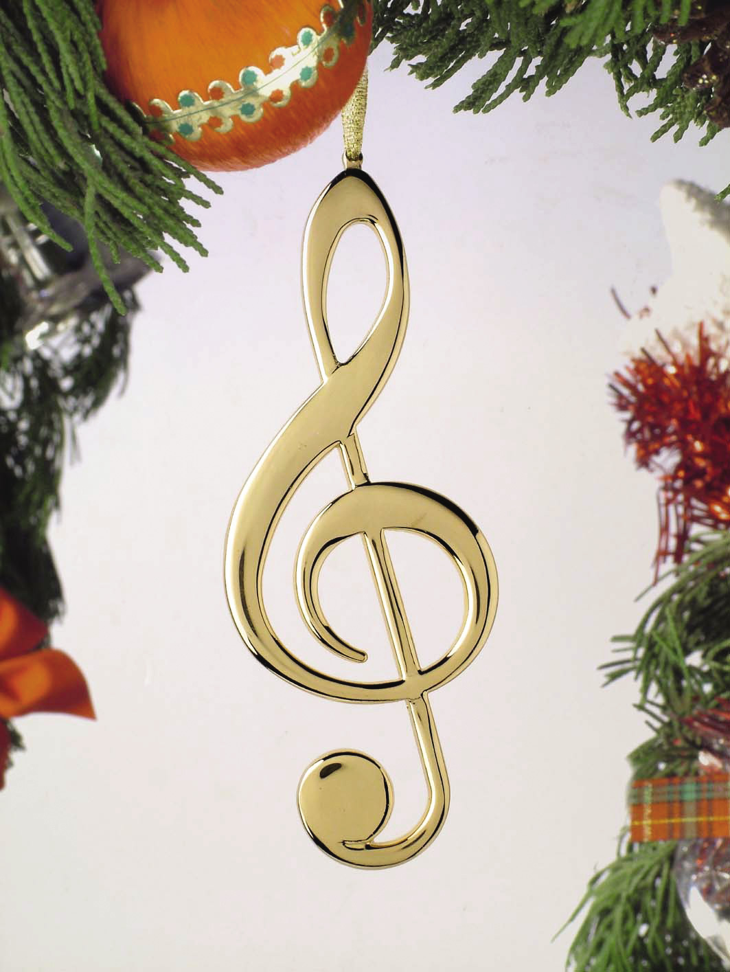 Buy Treble Clef Christmas Ornament | Music Gift | Christmas ...