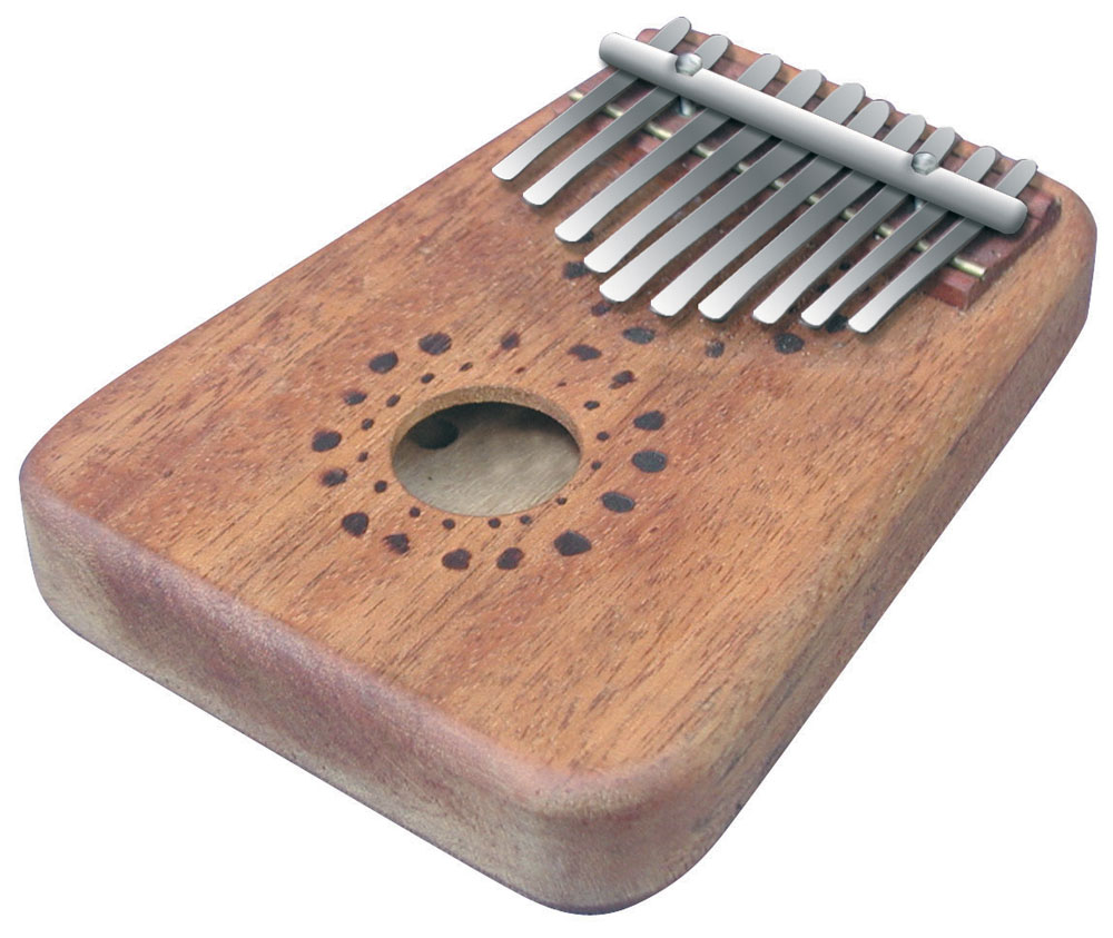 "10 notes; tunable metal fingers; diatonic ; wooden asian maple body with resonator cavity. A traditional instrument for improvisation and self-expression  5"" x 7"" x 1"""