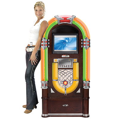 Crosley�s Digital Bubbler Jukebox is designed expressly for the home with this robust music server featuring not only the latest in computer and audio technology; but combining functionality with form in a truly-reminiscent 1950�s jukebox-style cabinet. F