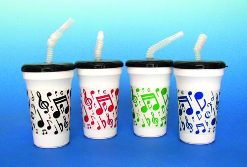 """12 OZ 5"""" TUMBLER WITH STRAW. COLORS MAY VARY FROM THOSE SHOWN.  Custom Imprint Available!"""