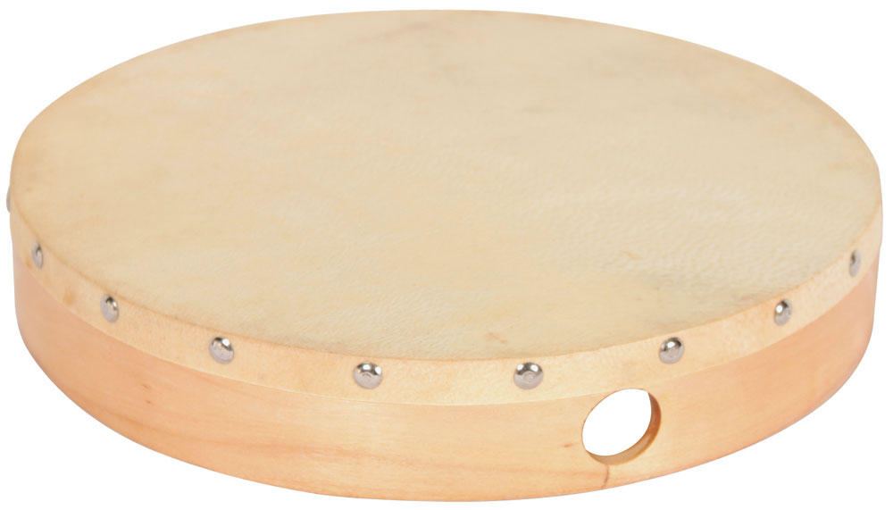 "10 "" Hand Drum with MalletWood Frame with natural Skin Head"
