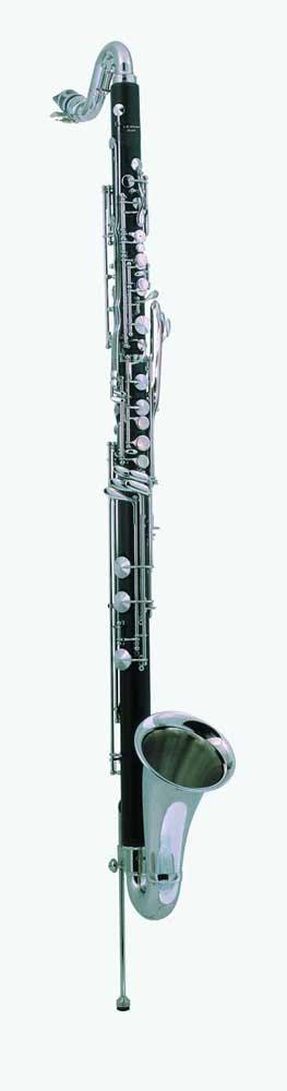 Grenadilla Wood BodY Silver-Plated Keys; Neck & Bell Adjustable Floor Peg; Keys to Low C