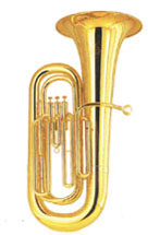 """BBb Tuba; 4/4 Size; .640"""" Bore; 4 Valve; 16"""" Upright Bell; Clear Lacquer Finish. Complete Outfit with case or padded bag."""