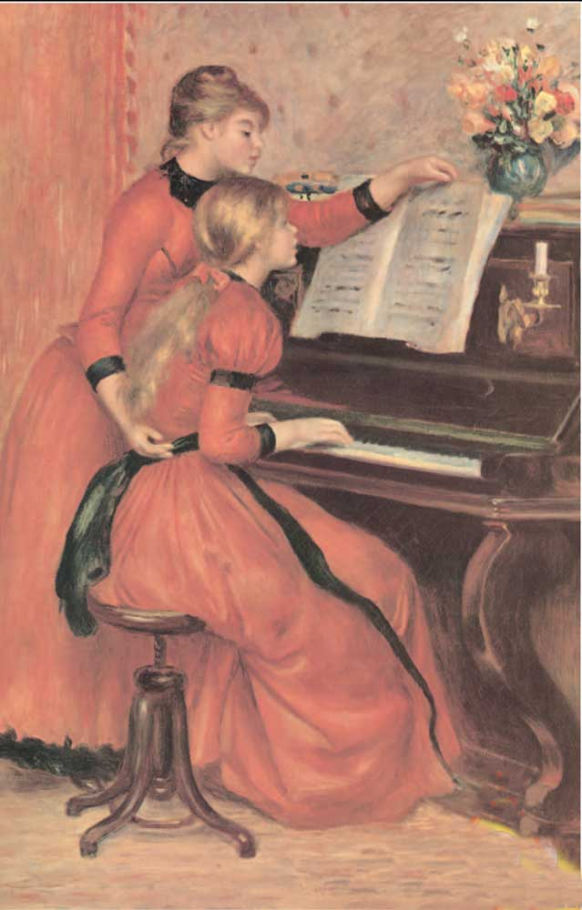 1000 Piece Puzzle!  Size: 26.5 x 27.4 inches New Product!!!!and in stock.Renoir: Young Girls at Piano