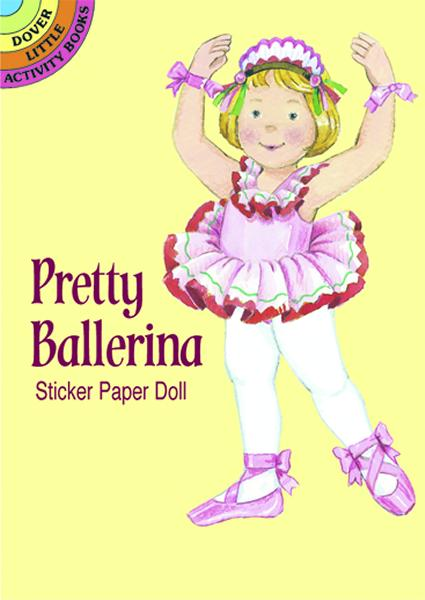1 Doll cutout and  29 costume stickers that allows a variety of costume changes for that trendy dancer in the family. Great gift and wonderful low-cost incentive!