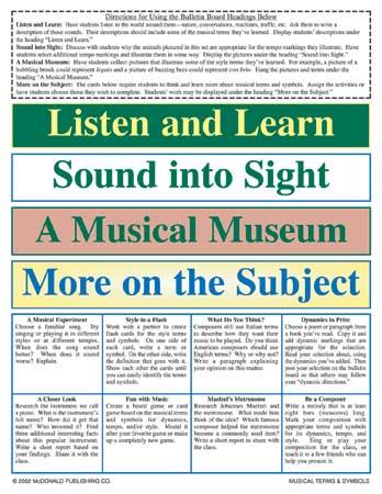 Buy Music Terms Symbols Bulletin Poster Set Music Media Signs