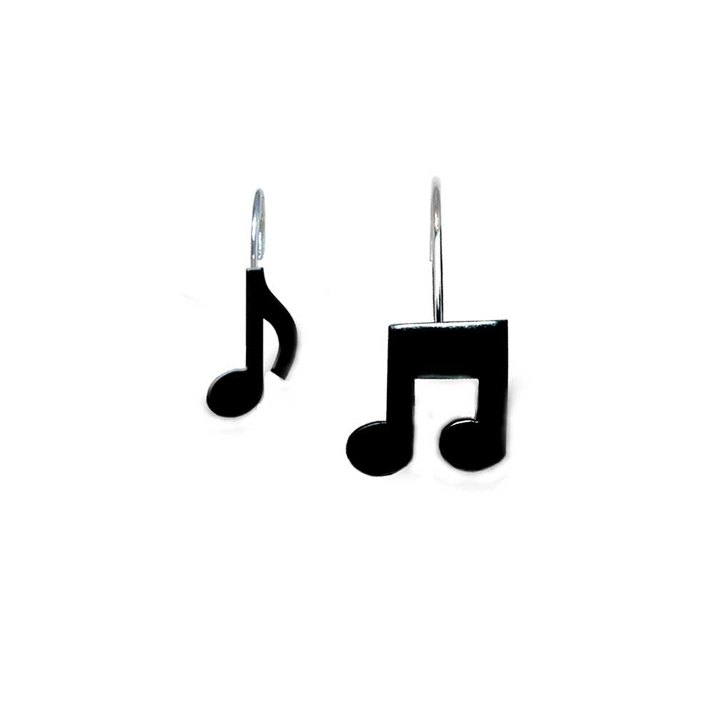 Musical Note Shower Curtain Hooks Music Gift