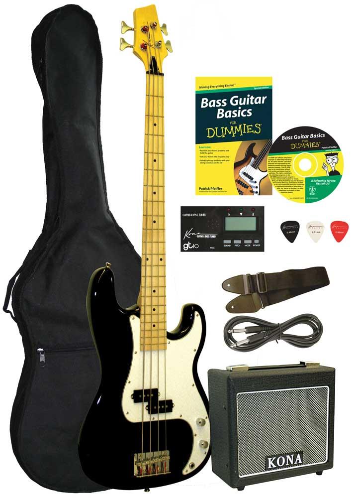 buy electric bass guitar starter pack for dummies music instruments student guitar. Black Bedroom Furniture Sets. Home Design Ideas