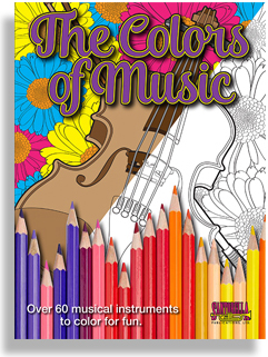 Buy Colors of Music Adult Coloring Book | Music Media | Music Books ...