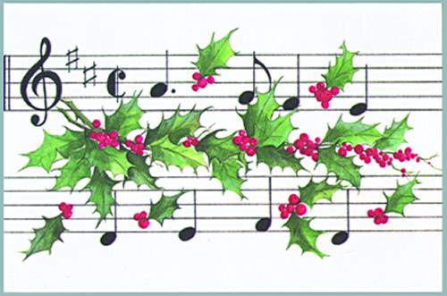 Buy holly with score christmas card music stationery greeting buy holly with score christmas card music stationery greeting cards christmas cards m4hsunfo