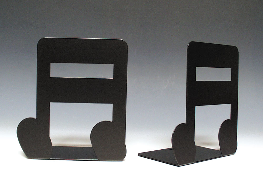 Buy double note bookends music stationery music bookend - Treble clef bookends ...