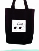Double Note Canvas Tote