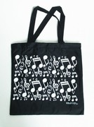 Music tote bags, totes, portfolios or anything you can carry with a music theme. Great gift item for your music teacher or family member. Get it for yourself as well to show the world you love music.