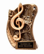 Curved Resin Clef Award