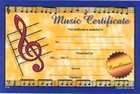 Gold Seal Music Certificates
